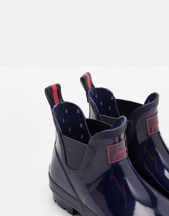 Boots Femme Wellobob Gloss Bleu Marine Joules