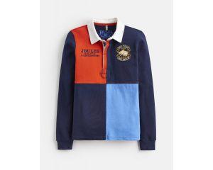 Polo Garçon Harlequin Bleu Marine manches longues Joules