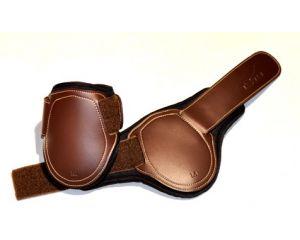 Protège-boulets jeunes chevaux sans élastique Tekna Chocolat