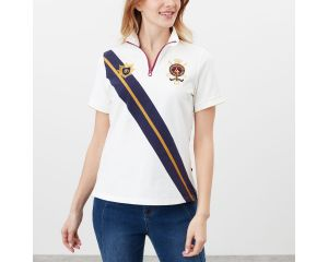 Polo Femme Houghton cream manches courtes Joules