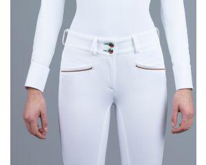 Pantalon Concours Femme Vanessa Taille Haute Blanc Iago