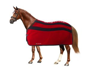 Chemise polaire cheval Brianna Rouge/Bleu Equiline