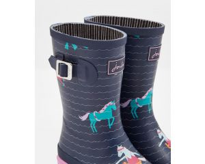 Bottes fille Printed Wellies Navy Sea Pony Tom Joule