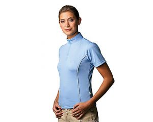 "Equi-Thème, Tee-shirt F.F.E Adulte ""Aeroccol"" Bleu Ciel"