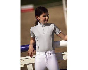 Polo Equitation F.F.E Enfants Equi-Thème Gris Clair