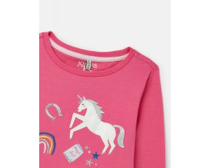 Tee Shirt fille manche longues Ava Rose  Joules