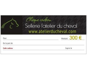 Un chèque cadeau d'une valeur de 300 Euros