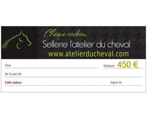 Un chèque cadeau d'une valeur de 450 Euros