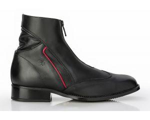 Boots d'équitation Como Sergio Grasso Noir/Rouge