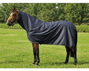 chemise de pluie d'extérieur 100 % imperméable Corby Full Neck Bleu Marine Equilin