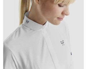 Chemise de concours femme Design blanche Horse pilot