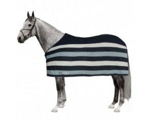 Chemise polaire cheval Steven Equiline Rayée Gris/Bleu