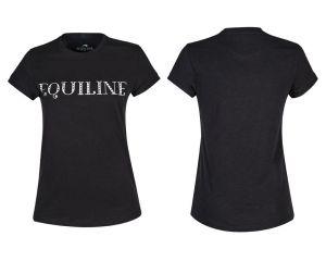 Tee-shirt Femme Angel Noir Equiline