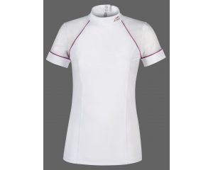 Polo concours Femme Giselle Blanc Equiline