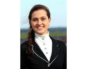 Polo équitation de compétition Femme manches courtes Olympia Horka Blanc
