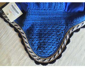 Bonnet anti-mouche à strass Zara  Bleu Roi Anna Scarpati