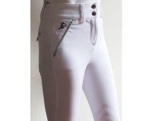 Pantalon Equitation de concours Femme Sesto Blanc Taille Haute Anna Scarpati
