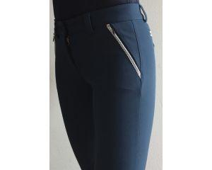 Pantalon Equitation de concours Femme Speedy Bleu Avio Anna Scarpati