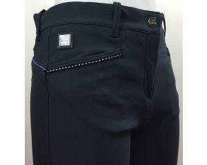 Pantalon Equitation Fille Margret Bleu Marine - Schoeller Textiles AG Equiline