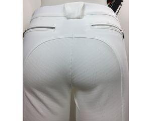 Pantalon Equitation Fille X-GRIP Full Grip  Blanc Cedar Equiline