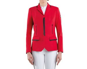 Veste de concours Femme Thais Rouge Tech Tailored Equiline Eté