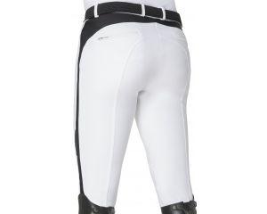 Pantalon equitation de concours Homme Blanc Cedric Grip genoux - Schoeller Textiles AG Equiline