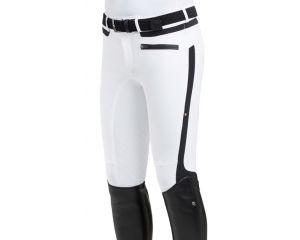 Pantalon equitation de concours Homme Thomas Blanc/Noir Tech Tailored - Schoeller Textiles AG Equiline