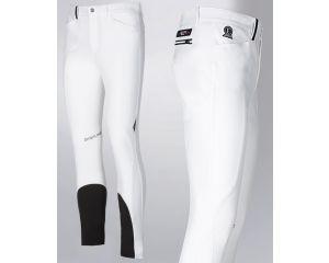 Pantalon équitation de concours Homme Racky Equiline W16 Blanc