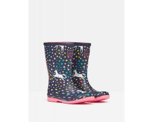 Bottes caoutchouc fille Roll Up Flexible Printed Wellies Joules