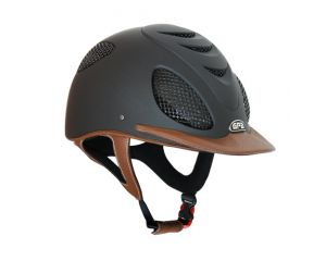 Casque Equitation Speed'Air Leather 2X GPA Noir/Chataigne
