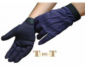 T.DE.T, Gants Initiation Coton Bleu Marine