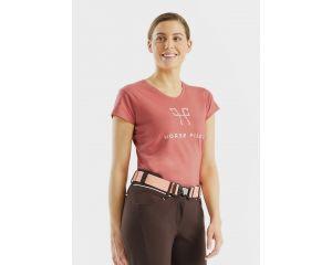Tee-shirt Team shirt Femme Rose Horse Pilot